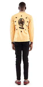Yellow Fan Bomber Jacket