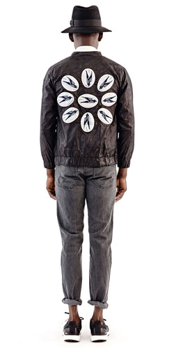 Black Bird Bomber Jacket - Selly Raby Kane - OXOSI