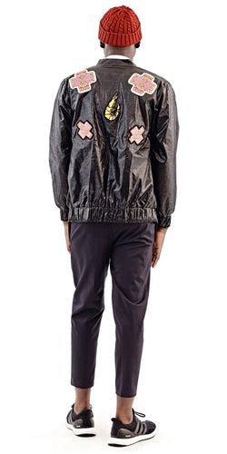 Black Schrimp Bomber Jacket - Selly Raby Kane - OXOSI