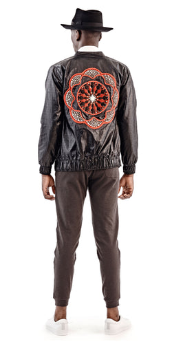 Black Flower Bomber Jacket - Selly Raby Kane - OXOSI