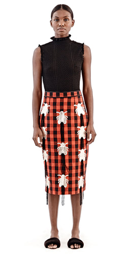 Fly Pencil Skirt - Selly Raby Kane - OXOSI