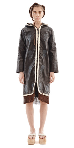 Black Hooded Coat - Selly Raby Kane - OXOSI