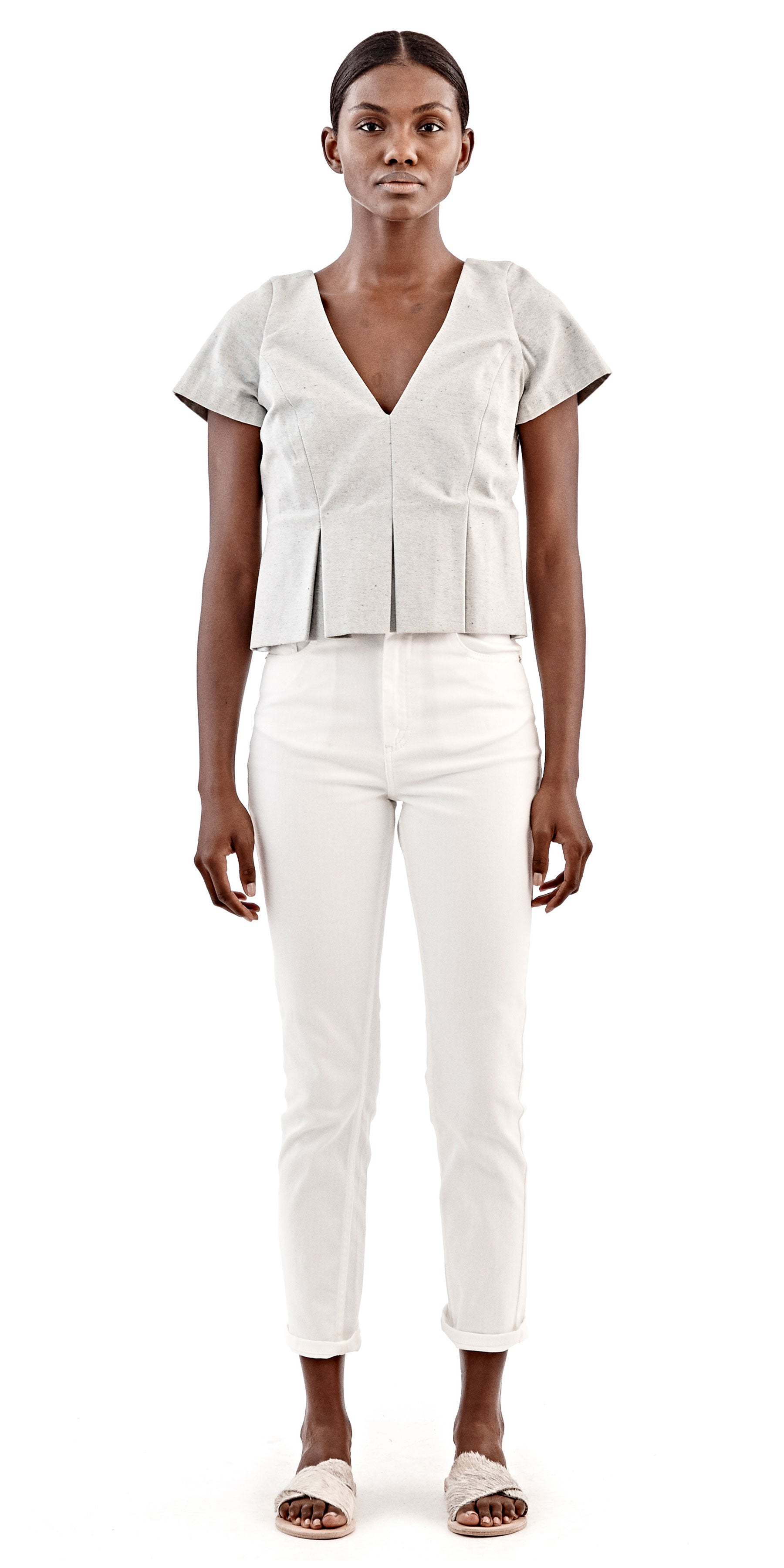 Pleated Moya Top - William Okpo - OXOSI