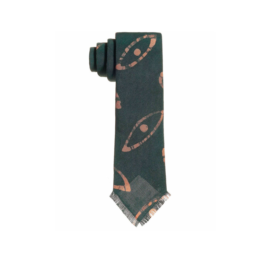 Post Imperial Green Orunmila Adire Tie