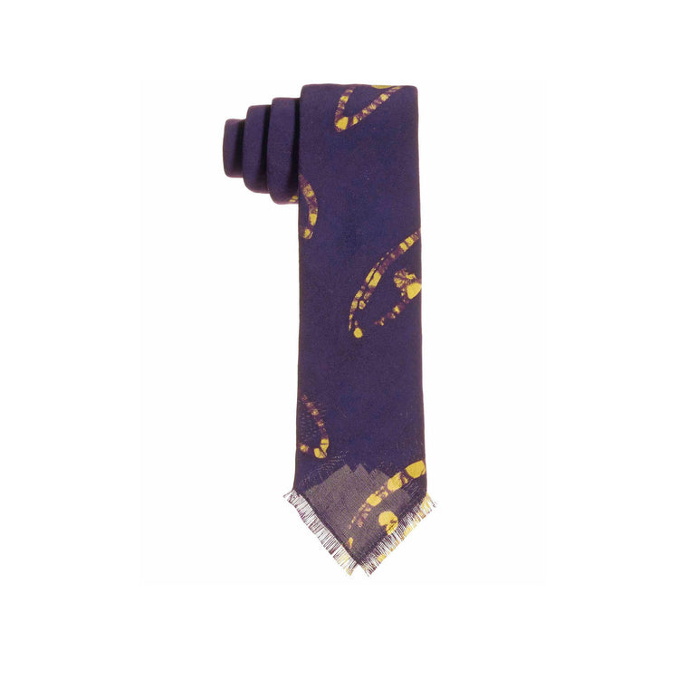 Purple Orunmila Adire Tie - Post Imperial - OXOSI