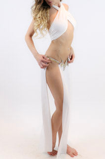 Diamond Leia Style Slave Skirt - burningbabeclothingco