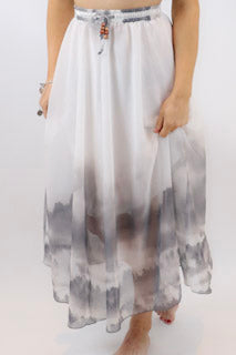 Mystic Forrest Printed Chiffon Skirt - burningbabeclothingco