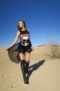 Shredded Pantera T Shirt Dress - burningbabeclothingco