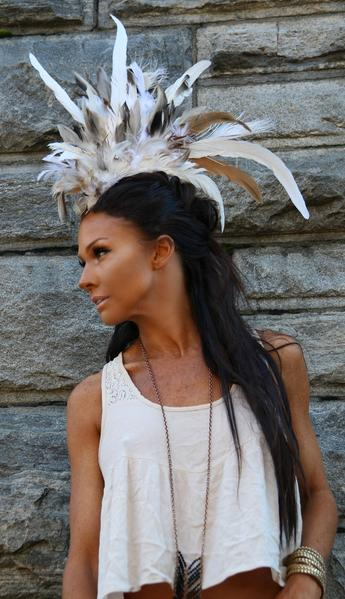 Feather Mohawk - burningbabeclothingco