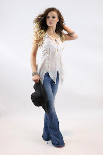 Long Fringe Weaved Crop Top