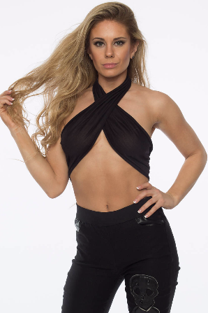 Black Infinity Crop Top