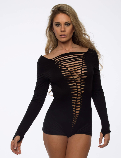 Long Sleeve Braided Bodysuit - burningbabeclothingco