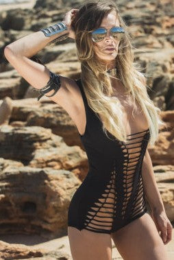 Black Braided Bodysuit