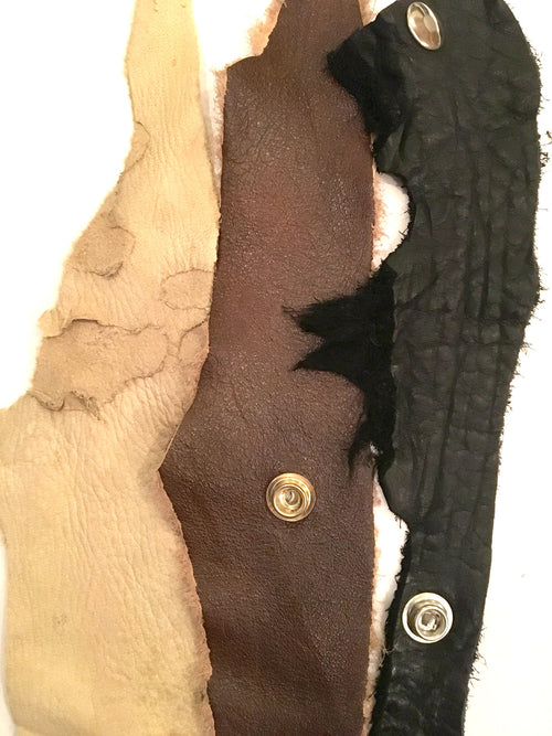 Torn Leather Cuff - burningbabeclothingco