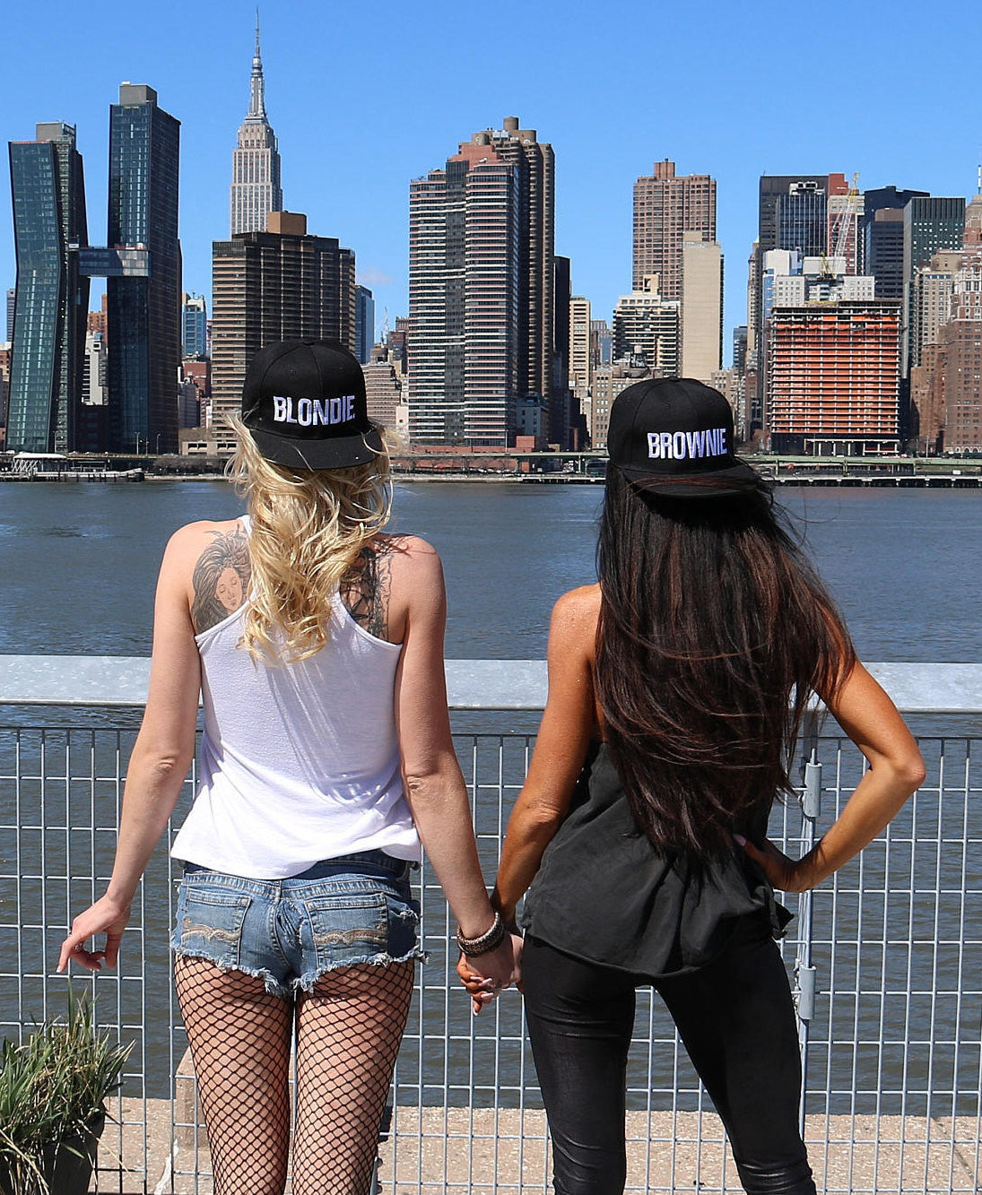 Blondie & Brownie Friendship Hats - burningbabeclothingco