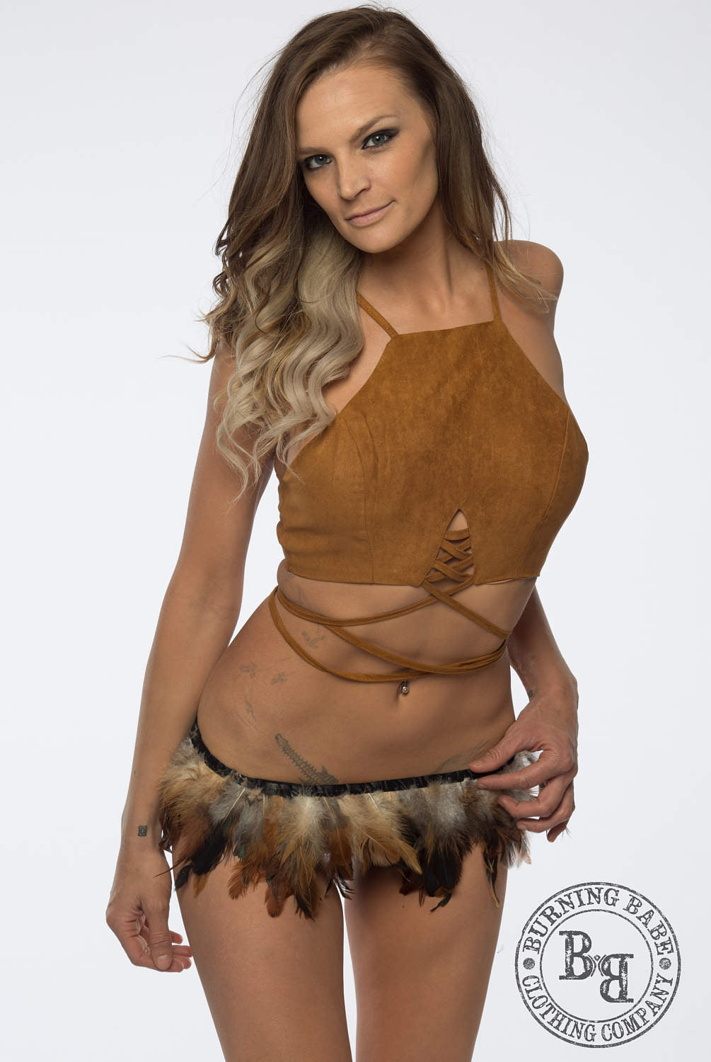 Feather Skirt - burningbabeclothingco