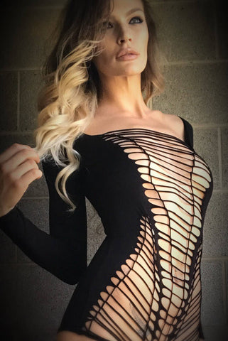 Black Cage Bodysuit