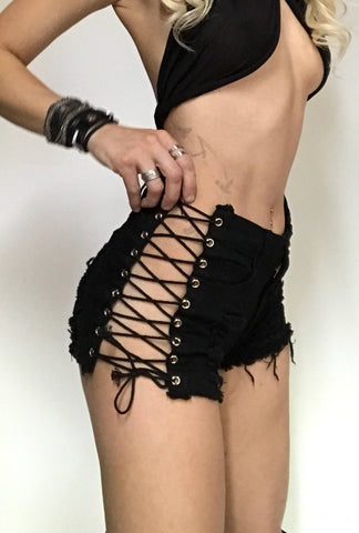 Mad Max Style Lace Up Fringe Top
