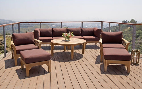 10 pc Monterey Teak Seating Group with 52