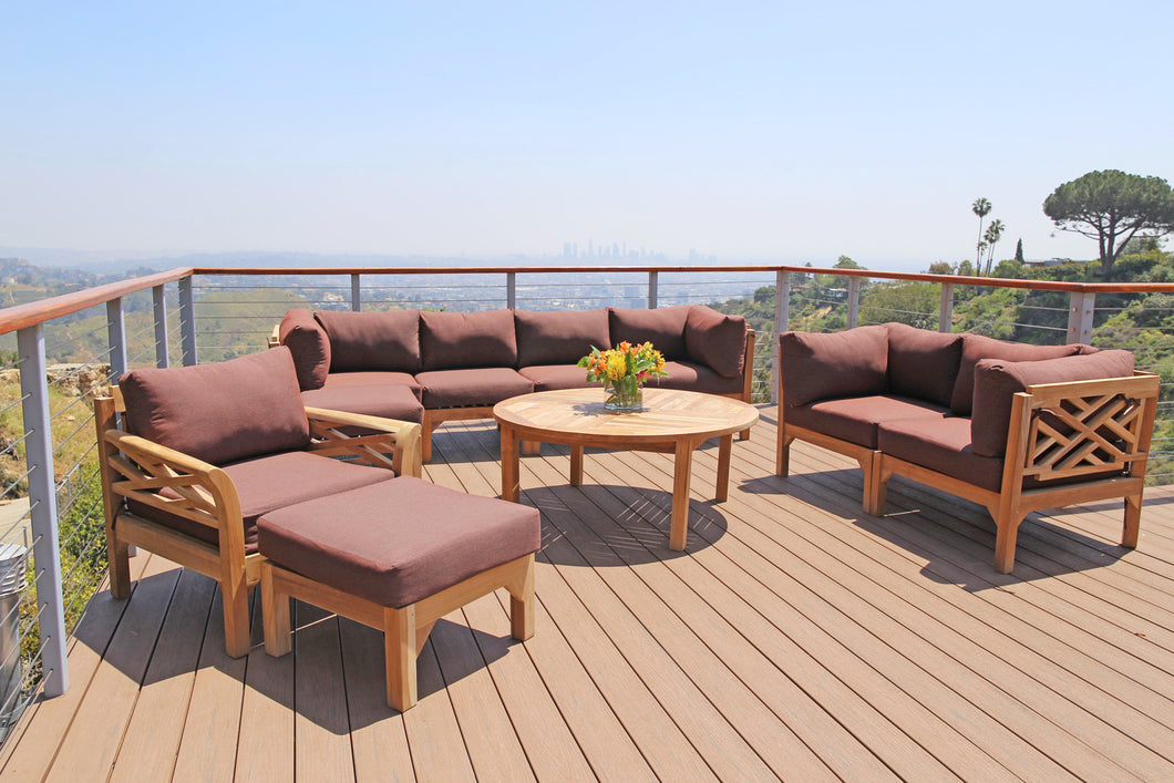 11 pc Monterey Teak Deep Seating Set with 52