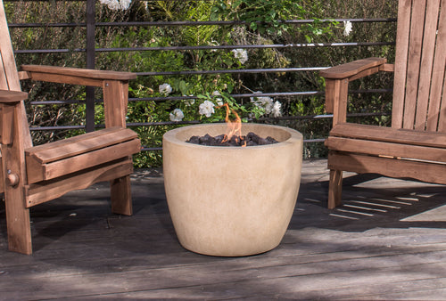 Abril Natural Stone Outdoor Fire Bowl