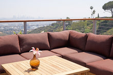 "10 pc Monterey Teak Sectional Seating Group with 36"" Chat Table. Sunbrella Cushion."