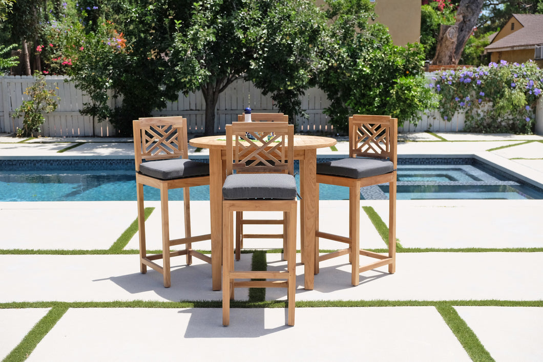 5 pc Monterey Teak Bar with 40
