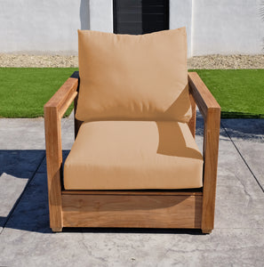 Chatsworth Teak Outdoor Club Chair. Sunbrella Cushion