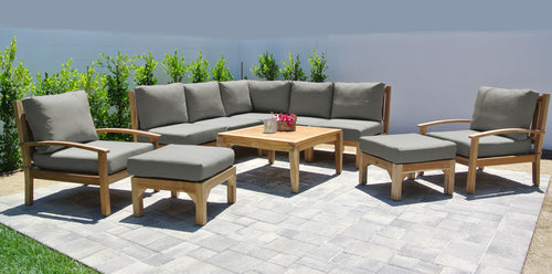 10 pc Huntington Teak Sectional Seating Group with 36
