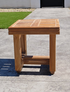 "Chatsworth 16""x16"" Teak Outdoor End Table"