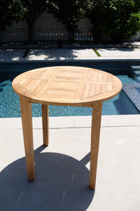 "42"" Round Teak Outdoor Bar Table"