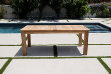 "79""/120"" Teak Outdoor Double Leaf Expansion Dining Table"