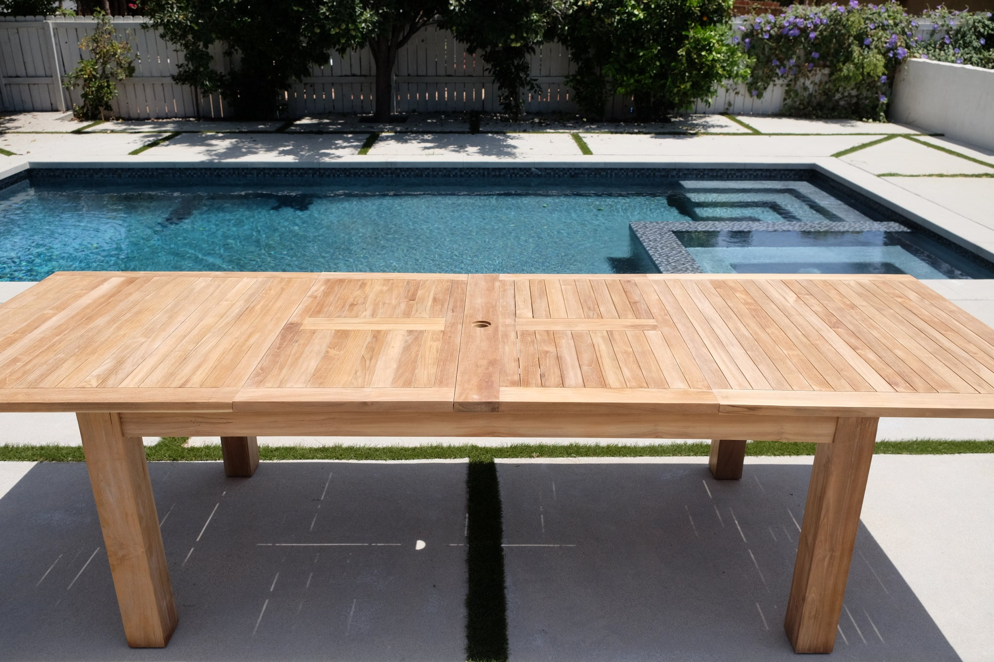 Outdoor Expansion Table Teak Furniture Outdoor Table Willow Creek Designs