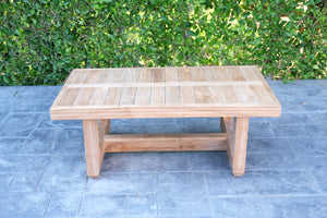 "Chatsworth 42""x 23.5"" Teak Outdoor Coffee Table"