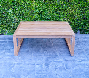"Venice 48""x48"" Teak Outdoor Square Coffee Table"