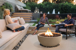 Baja Natural Stone Outdoor Fire Bowl