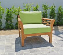 Monterey Teak Outdoor Club Chair. Sunbrella Cushion
