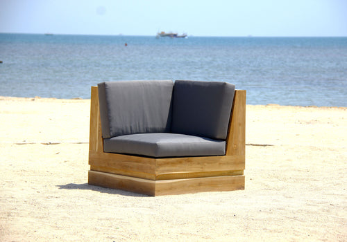 Teak Outdoor Corner Sectional Set