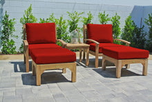 5 pc Huntington Teak Club Chair Chat Group. Sunbrella Cushion.