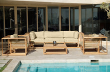 5pc Laguna Teak Sofa Deep Seating Group with Coffee Table. Sunbrella Cushion