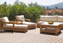 "8 pc Chatsworth Teak Deep Seating Deluxe Sofa with 36"" Coffee Table. Sunbrella Cushion"