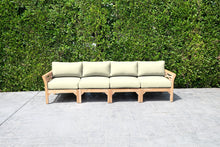 Monterey Outdoor Teak Deluxe Sofa. Sunbrella Cushion
