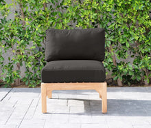 Monterey Teak Outdoor Armless Chair. Sunbrella Cushion