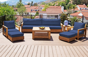 "7 pc Chatsworth Teak Deep Seating Deluxe Sofa with 36"" Coffee Table. Sunbrella Cushion"