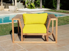 Laguna Teak Outdoor Club Chair. Sunbrella Cushion