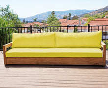 Chatsworth Teak Outdoor Deluxe Sofa. Sunbrella Cushion