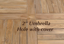 Teak Dining Table with Umbrella Hole