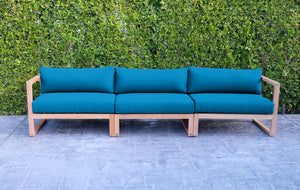 Venice Teak Outdoor Deluxe Sofa. Sunbrella Cushion