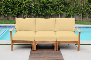 Huntington Teak Outdoor Sofa. Sunbrella Cushion