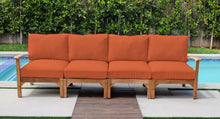 Huntington Teak Deluxe Outdoor Sofa. Sunbrella Cushion